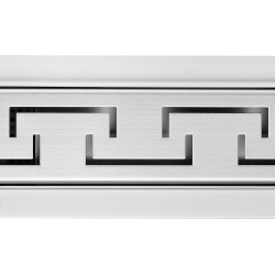 Aztec Design Rectangular Stainless Steel Wetroom Drains