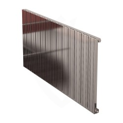 Carisa Monza Polished Aluminium Radiator - 1230 x 600mm