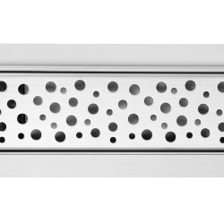 Rectangular Stainless Steel Wetroom Drains - Bubble Design
