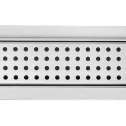 Rectangular Stainless Steel Wet Room Drains - Dot Design