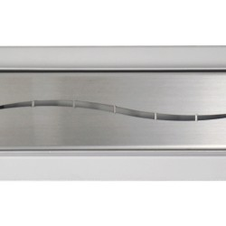 Rectangular Stainless Steel Wet Room Drains - Long Wave Design