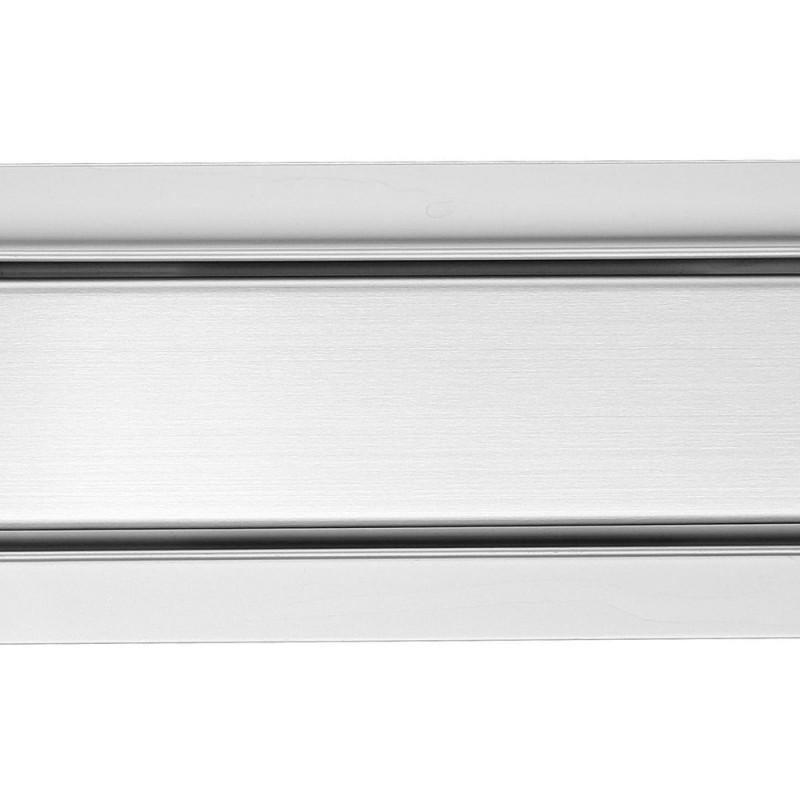 Rectangular Stainless Steel Wet Room Drains - Flush Design