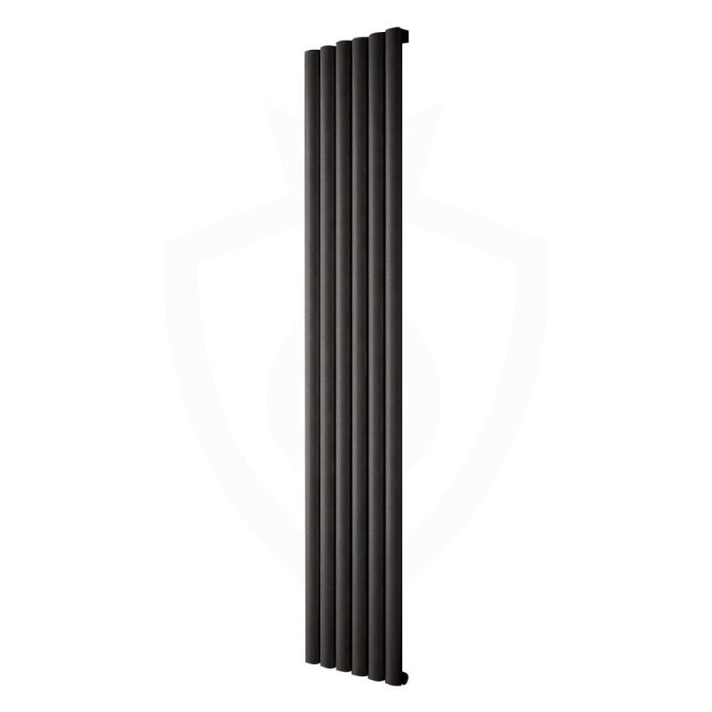 Carisa Tallis Black Aluminium Radiator - 350 x 1800mm