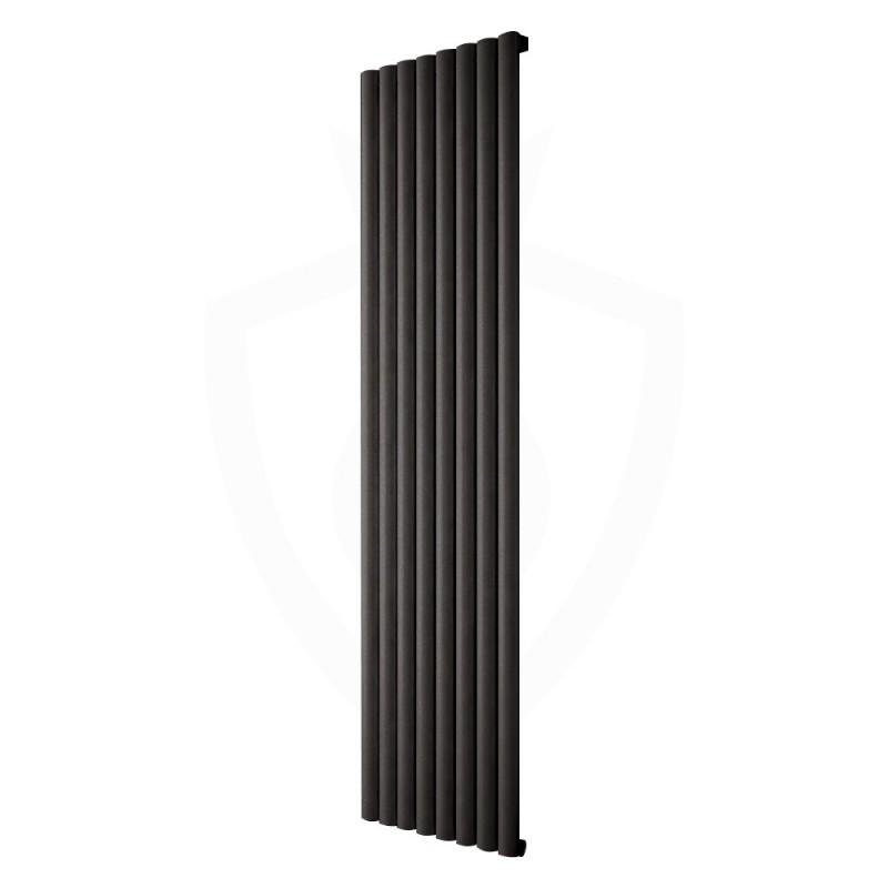 Carisa Tallis Black Aluminium Radiator - 470 x 1800mm