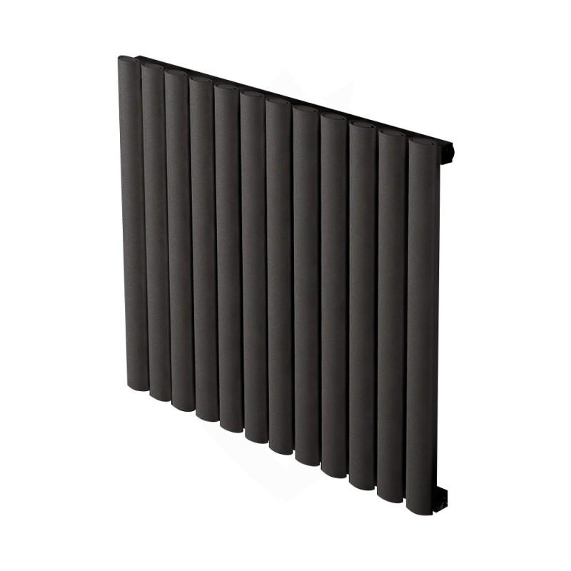 Carisa Tallis Black Aluminium Radiator - 710 x 600mm