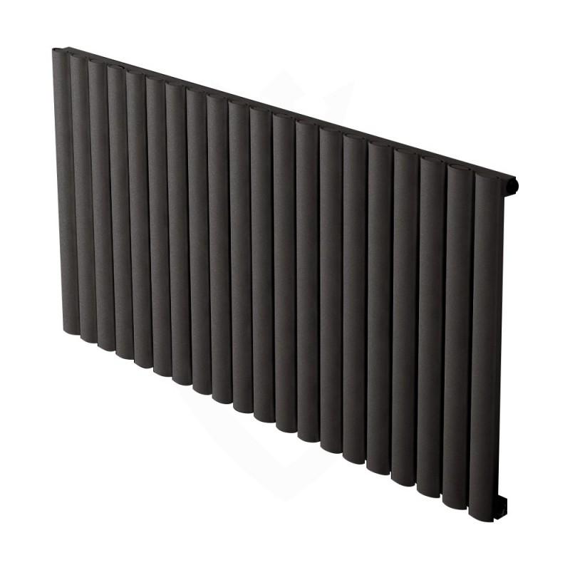 Carisa Tallis Black Aluminium Radiator - 1190 x 600mm