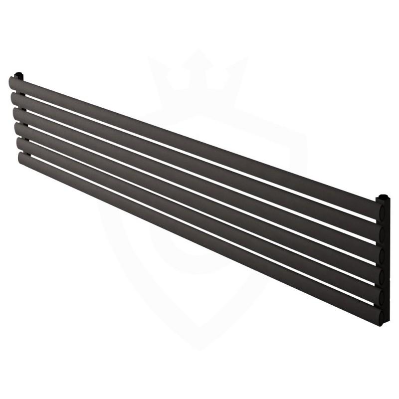 Carisa Tallis Black Aluminium Radiator - 1800 x 350mm