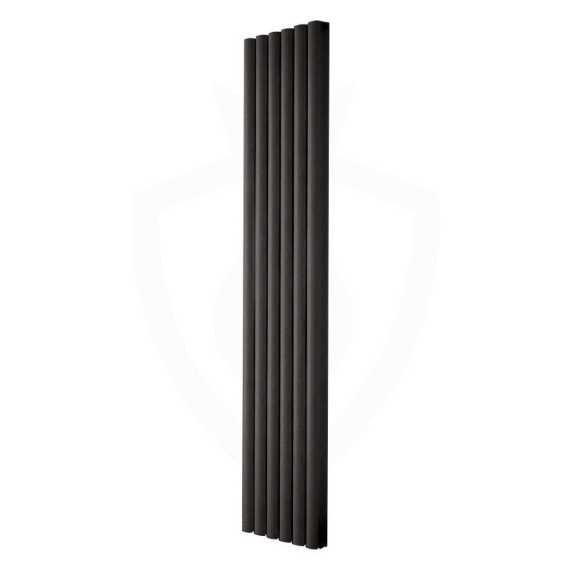 Carisa Tallis Double Black Aluminium Radiator - 350 x 1800mm