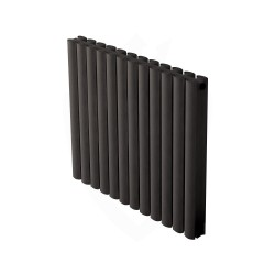 Carisa Tallis Double Black Aluminium Radiator - 710 x 600mm