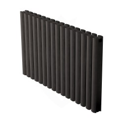 Carisa Tallis Double Black Aluminium Radiator - 950 x 600mm