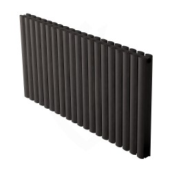 Carisa Tallis Double Black Aluminium Radiator - 1190 x 600mm