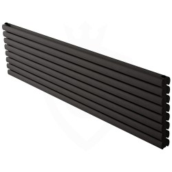 Carisa Tallis Double Black Aluminium Radiator - 1800 x 470mm