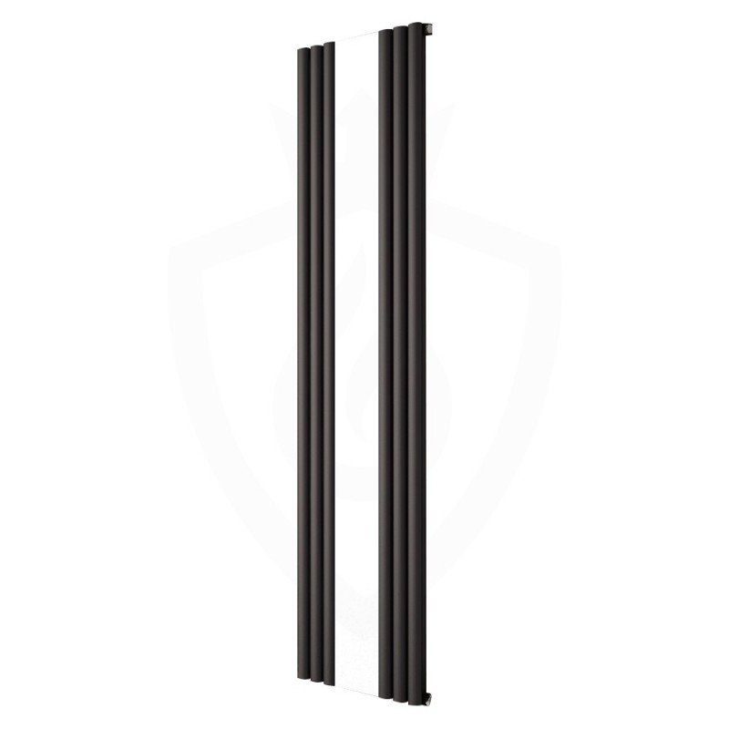 Carisa Tallis Black Aluminium Mirror Radiator - 550 x 1800mm