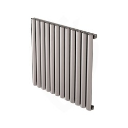 Carisa Tallis Polished Aluminium Radiator - 710 x 600mm