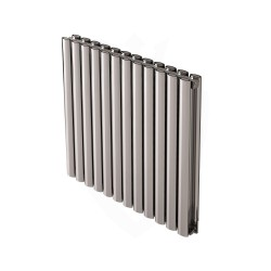 Carisa Tallis Double Polished Aluminium Radiator - 710 x 600mm
