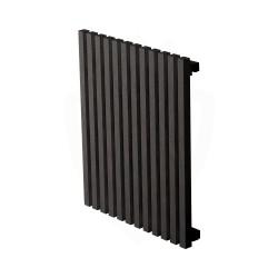 Carisa Sophia Black Aluminium Radiator - 499 x 600mm