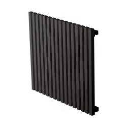 Carisa Sophia Black Aluminium Radiator - 667 x 600mm
