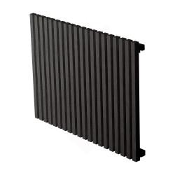 Carisa Sophia Black Aluminium Radiator - 835 x 600mm