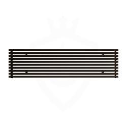 Carisa Sophia Black Aluminium Radiator - 1800 x 415mm
