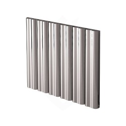 Carisa Wave Polished Aluminium Radiator - 745 x 600mm