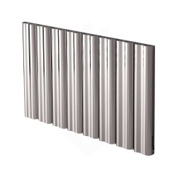 Carisa Wave Polished Aluminium Radiator - 995 x 600mm