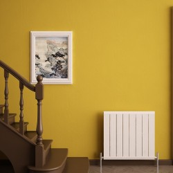Carisa Elite White Aluminium Radiator - 595 x 600mm - Installed