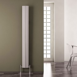 Carisa Play Matt Anodised Aluminium Radiator - 185 x 1800mm - Installed