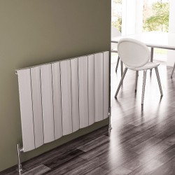 Carisa Play Matt Anodised Aluminium Radiator - 945 x 600mm - Installed