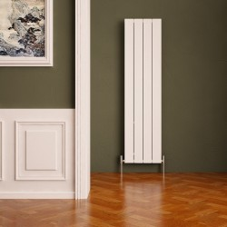 Carisa Nemo White Aluminium Radiator - 375 x 1800mm - Installed