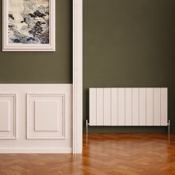 Carisa Nemo White Aluminium Radiator - 1040 x 600mm - Installed