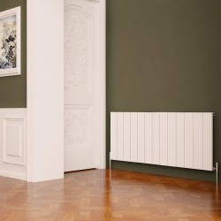 Carisa Nemo White Aluminium Radiator - 1230 x 600mm - Installed