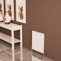 Carisa Nemo Double White Aluminium Radiator - 470 x 600mm - Installed
