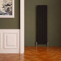 Carisa Nemo Black Aluminium Radiator - 375 x 1800mm - Installed