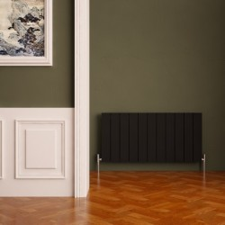 Carisa Nemo Black Aluminium Radiator - 850 x 600mm - Installed
