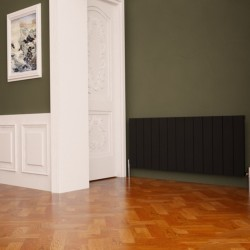 Carisa Nemo Black Aluminium Radiator - 1230 x 600mm - Installed