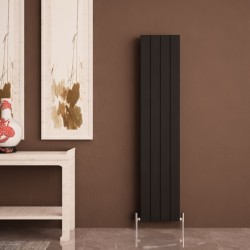 Carisa Nemo Double Black Aluminium Radiator - 375 x 1800mm - Installed
