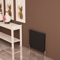 Carisa Nemo Double Black Aluminium Radiator - 660 x 600mm - Installed
