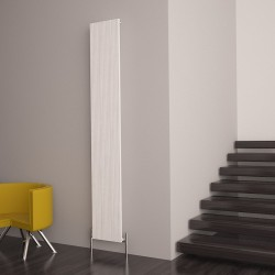 Carisa Monza White Aluminium Radiator - 280 x 1800mm - Installed
