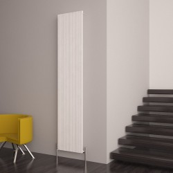 Carisa Monza White Aluminium Radiator - 375 x 1800mm - Installed