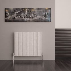 Carisa Monza White Aluminium Radiator - 660 x 600mm - Installed