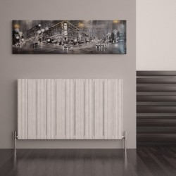 Carisa Monza White Aluminium Radiator - 1040 x 600mm - Installed