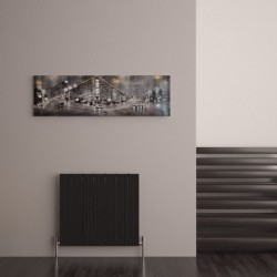 Carisa Monza Black Aluminium Radiator - 660 x 600mm - Installed