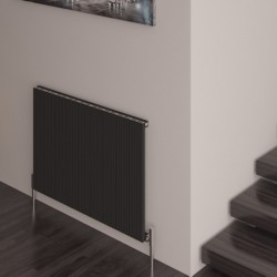 Carisa Monza Black Aluminium Radiator - 850 x 600mm - Installed