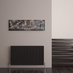 Carisa Monza Black Aluminium Radiator - 1040 x 600mm - Installed