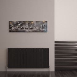 Carisa Monza Black Aluminium Radiator - 1230 x 600mm - Installed
