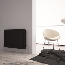 Carisa Monza Double Black Aluminium Radiator - 850 x 600mm - Installed