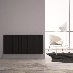 Carisa Monza Double Black Aluminium Radiator - 1230 x 600mm - Installed