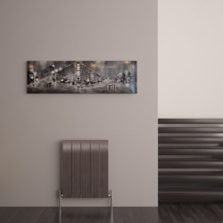 Carisa Monza Polished Aluminium Radiator - 470 x 600mm - Installed