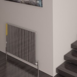 Carisa Monza Polished Aluminium Radiator - 850 x 600mm