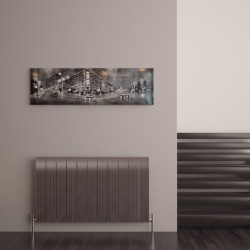 Carisa Monza Polished Aluminium Radiator - 1040 x 600mm - Installed